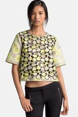 MSGM Boxy Cut-out Detail Top - Lyst