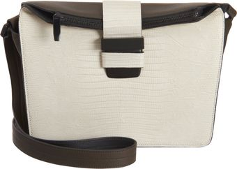 Narciso Rodriguez Colorblock Lizard Shoulder Bag - Lyst