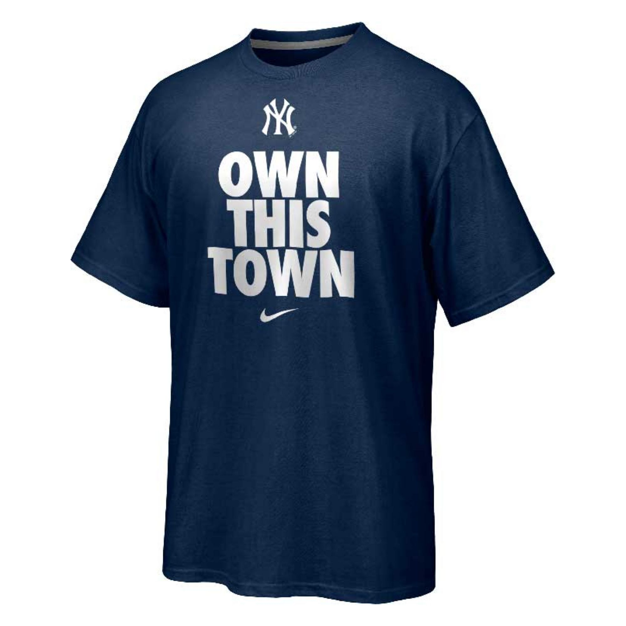 Nike men 39 s short sleeve new york yankees own this town t for Lands end logo shirts