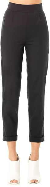 Osman Yousefzada Techno Wool Highrise Tailored Trousers - Lyst