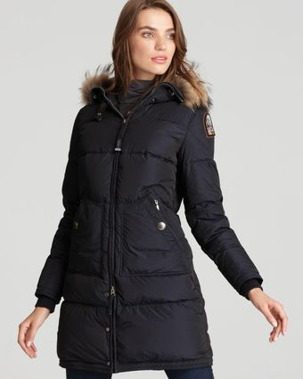Parajumpers Long Bear Down Coat with Fur Hood - Lyst