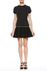 RED Valentino Polka Dot Knit Top - Lyst