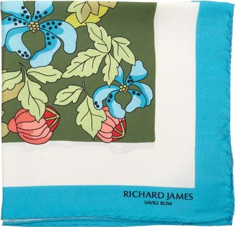 Richard James Winter Floral Pocket Square - Lyst
