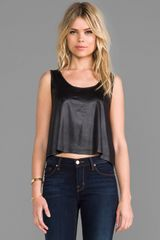 Somedays Lovin Salt Crop Tank in Black - Lyst