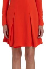 Stella McCartney Cady Pleated Mini Dress - Lyst