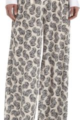 Stella McCartney Silk Print Pants With Double Pleats - Lyst