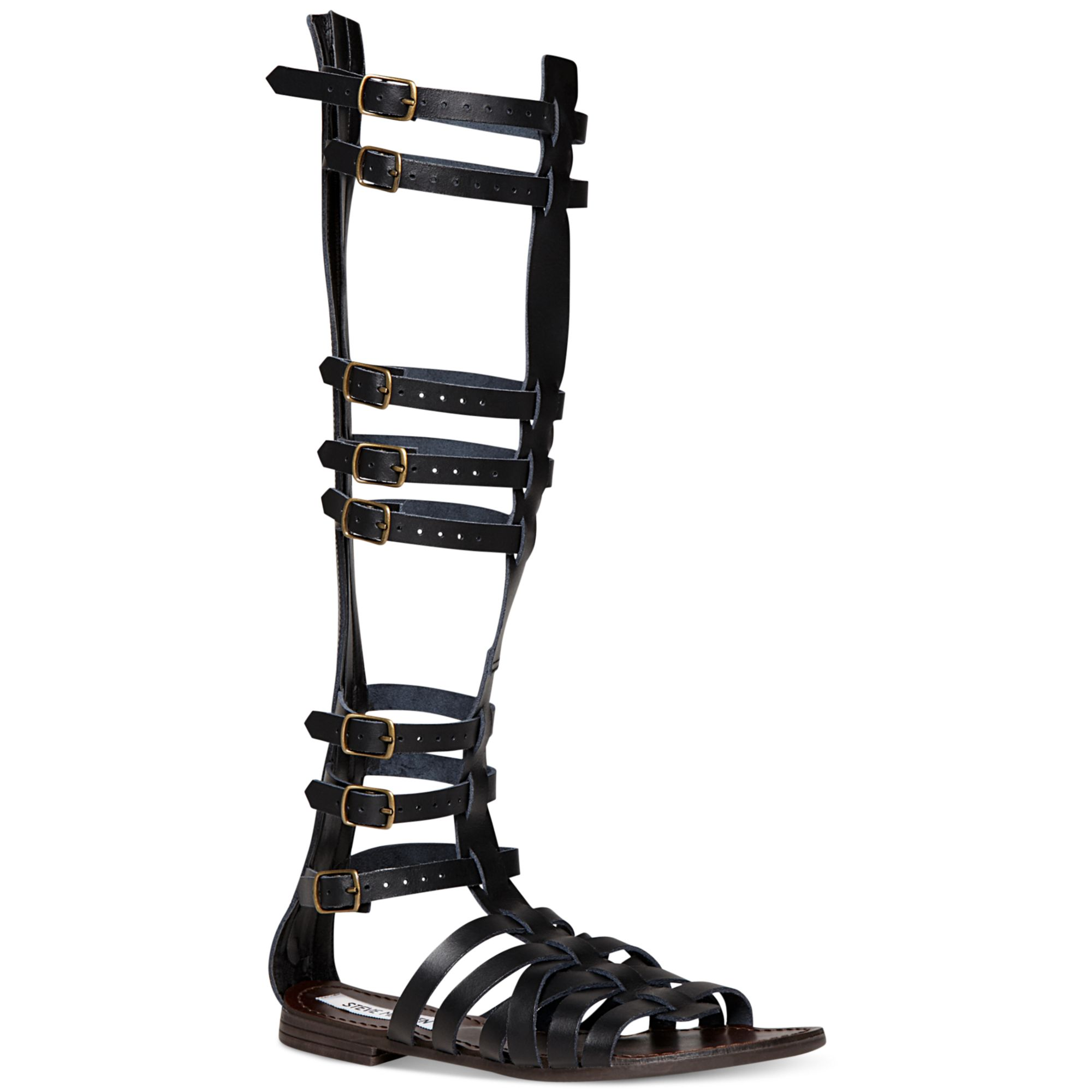 326d26be8f1c Lyst - Steve Madden Sparta Tall Gladiator Sandals in Black
