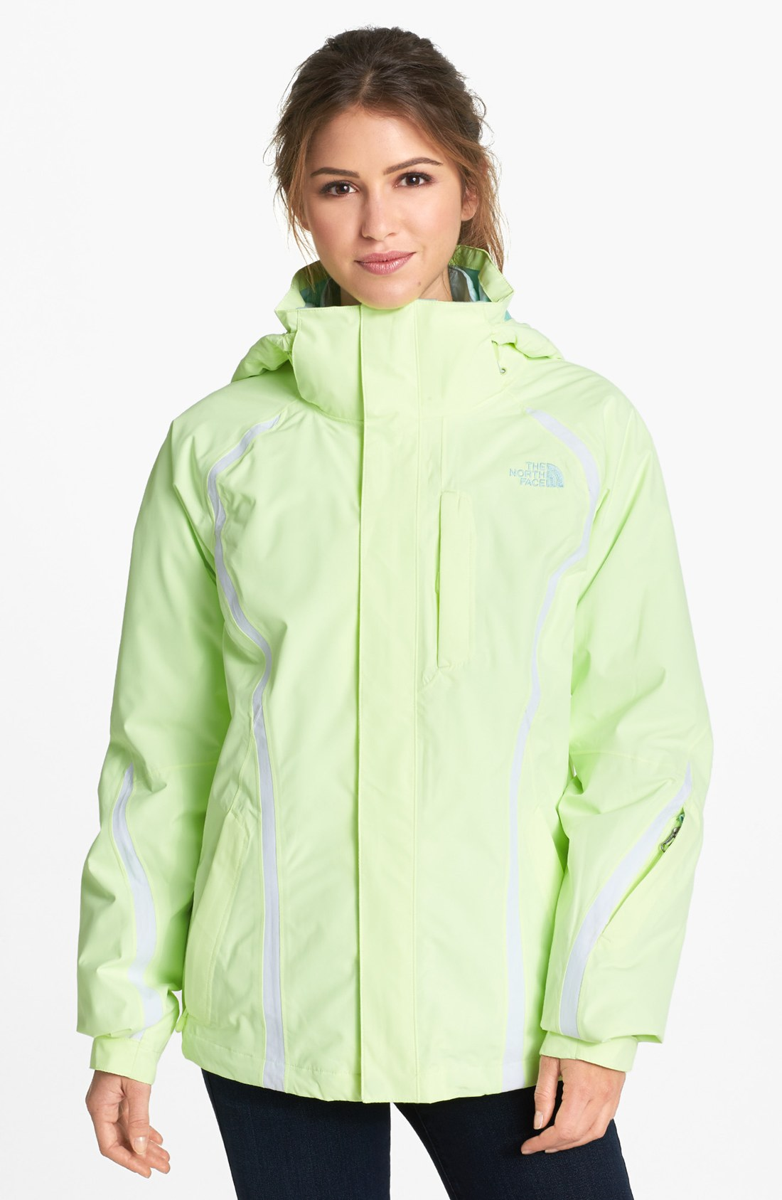 e45bea5f5039 ... real the north face kira triclimate 3in1 jacket in green lyst f5b0f  29cd6