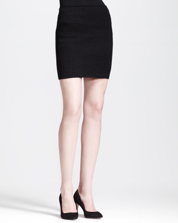 theory filree p evian stretch pencil skirt in black black