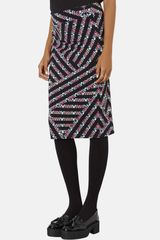 Topshop New Chevron Maternity Tube Skirt - Lyst