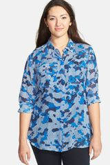Two By Vince Camuto Print Utility Shirt - Lyst