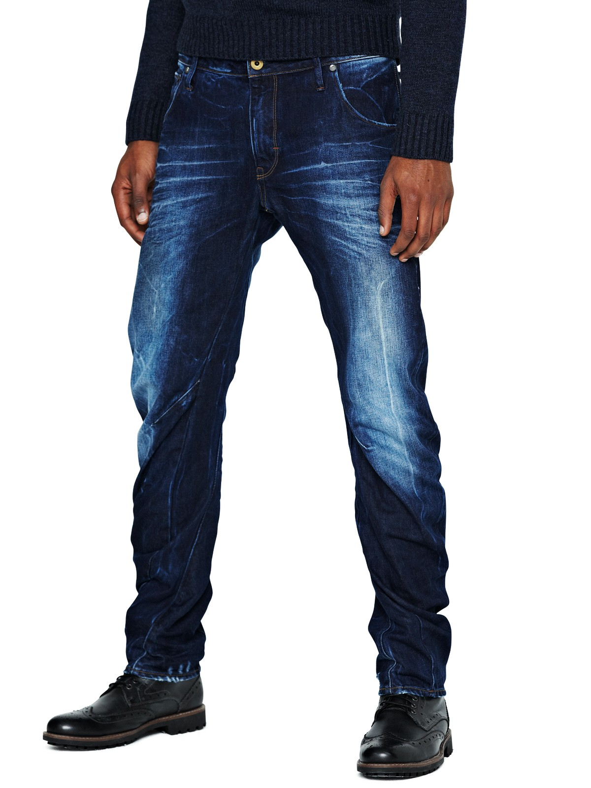 g star raw gstar raw arc 3d mens slim jeans in blue for. Black Bedroom Furniture Sets. Home Design Ideas
