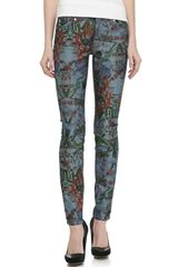 7 For All Mankind Gwenevere Super Skinny Jeans Tropical - Lyst