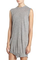 Alexander Wang Sleeveless Crewneck Shirt Dress Grey - Lyst