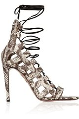 Aquazzura Amazon Elaphe Sandals - Lyst