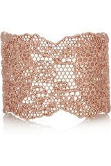 Aurelie Bidermann Rose Golddipped Lace Cuff - Lyst