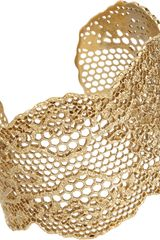 Aurelie Bidermann Gold Small Lace Cuff - Lyst