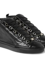 Balenciaga Arena Creasedleather High Top Sneakers