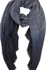 Barneys New York Plaid Ombre Scarf - Lyst