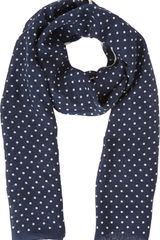 Barneys New York Polka Dotted Scarf - Lyst