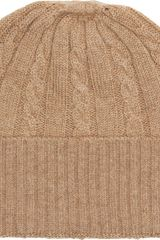 Barneys New York Cable Knit Beanie - Lyst