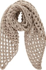 Barneys New York Chunky Open Stitch Scarf - Lyst