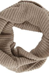 Barneys New York English Rib Knit Twisted Cowl Neck Scarf - Lyst