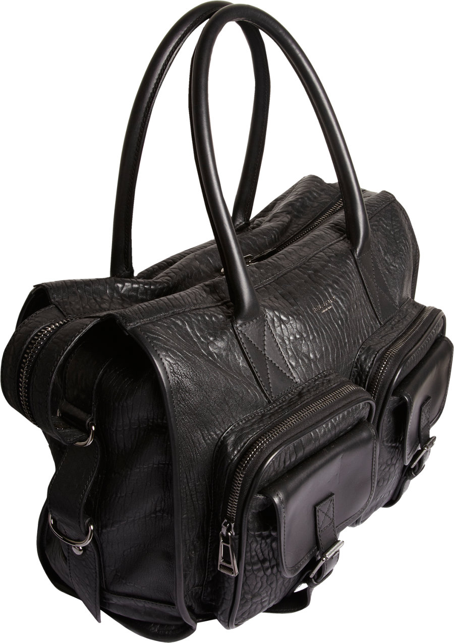 Carnegie Leather Bag With Exterior Pockets In Black For Men Lyst