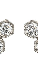 Cathy Waterman Diamond Hexagon Drop Earrings - Lyst