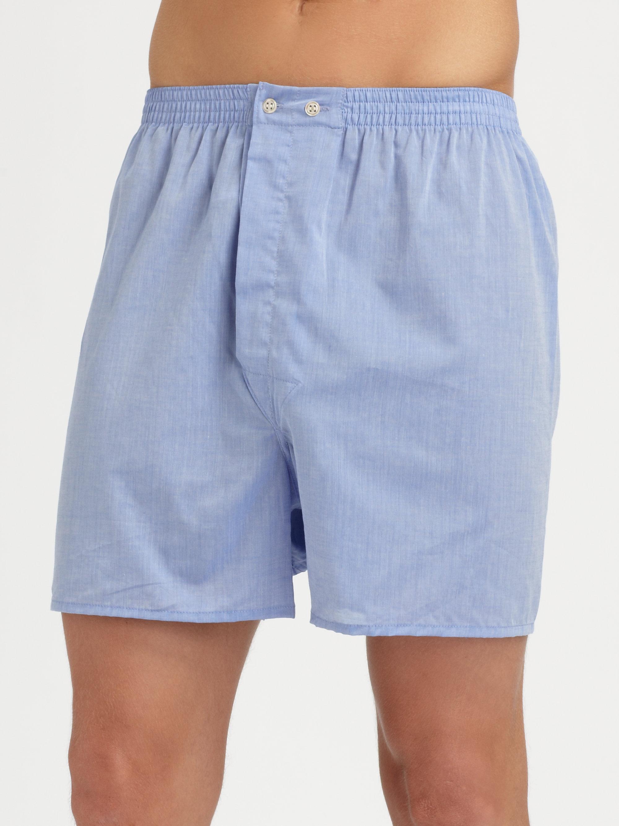 Derek Rose Solid Boxer Shorts In Blue For Men Lyst