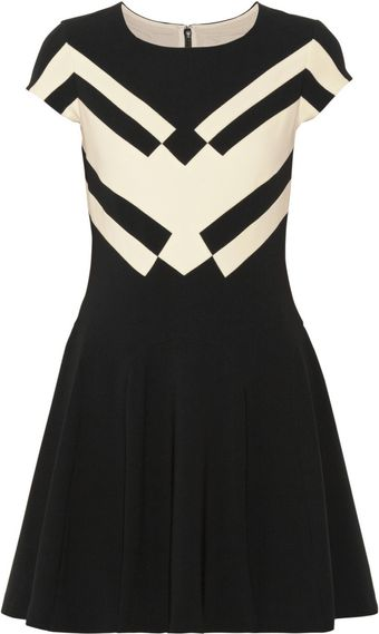 Diane Von Furstenberg Gail Stretch Crepe Mini Dress - Lyst