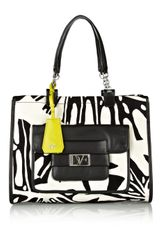 Diane Von Furstenberg Lola Printed Cavas and Leather Tote - Lyst