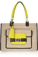Diane Von Furstenberg Lola Canvas and Leather Tote - Lyst
