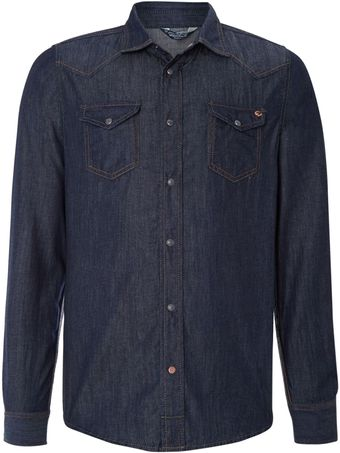 Diesel Denim Long Sleeve Shirt - Lyst
