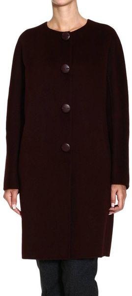 Ermanno Scervino Coat Roundneck Double Wool - Lyst