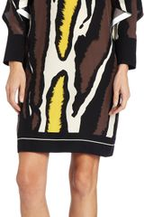 Fendi Zebra Print Shift Dress - Lyst