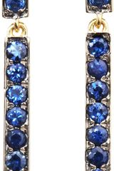 Finn Sapphire Bar Drop Earrings - Lyst