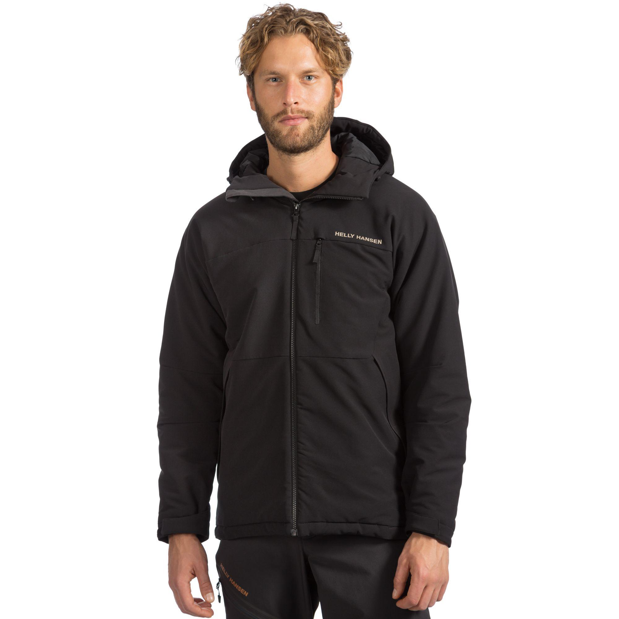 helly hansen odin insulated softshell jacket in black for men lyst. Black Bedroom Furniture Sets. Home Design Ideas