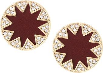 House Of Harlow Sunburst Button Stud Earrings Cranberry - Lyst