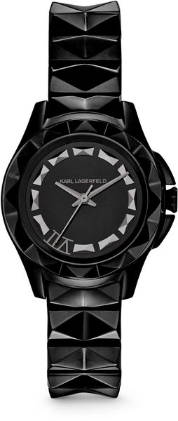 Karl Lagerfeld Karl 7 Black Stainless Steel Unisex Watch - Lyst