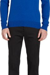 Maison Martin Margiela Pullover With Suede Elbow Patches - Lyst