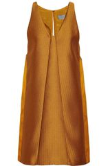 Maiyet Pleated Handwoven And Silksateen Dress - Lyst