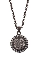 Marcia Moran Druzy Circle Pendant Necklace - Lyst