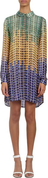Mary Katrantzou Saopaolo graphic print Longsleeve Shift - Lyst