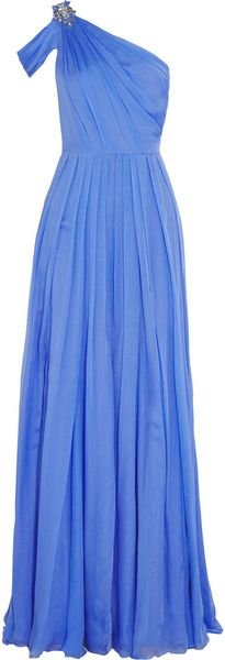 Matthew Williamson Oneshoulder Embellished Silk Chiffon Gown - Lyst