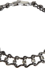 Mawi Crystal Ladder Chain Necklace - Lyst