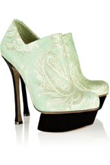 Nicholas Kirkwood Jacquard and Velvet Pumps - Lyst