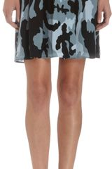 Organic By John Patrick Pleated Camo Print Skirt - Lyst