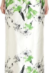 Prabal Gurung Long Satin Floral Skirt - Lyst