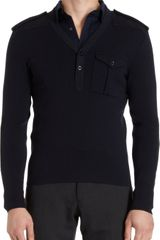Ralph Lauren Black Label Knit V-neck Henley - Lyst